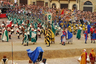 Entrance of the Knights at the Giostra del Saracino in Arezzo