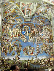 A section of the ceiling by Michelangelo, Sistine Chapel