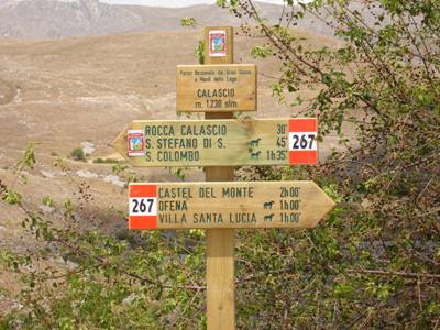 Road Sign to Rocca Calascio