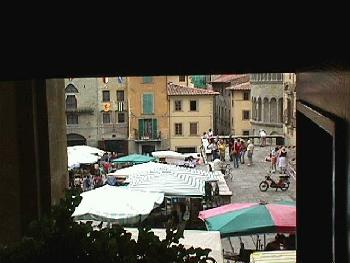 A Restaurant View of the Piazza Grande