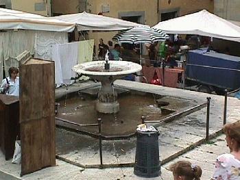 Piazza Grande Fountain Arezzo