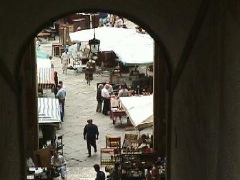 Vasari Loggia Archway Arezzo