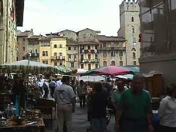 Crowded Piazza Arezzo