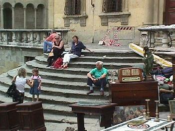 Admiring the Scenery, Arezzo Tuscany