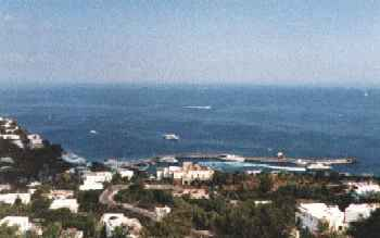 View of the sea from Capri