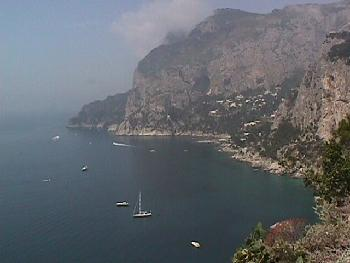 Boats Sailing Just Off The Coast of Capri