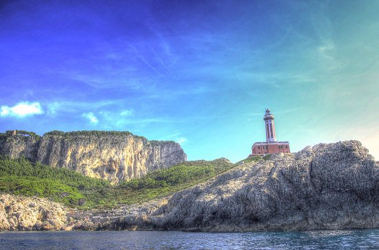 The Punta Carena lighthouse Capri