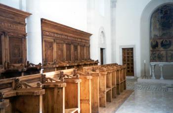 A room inside the basilica