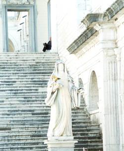 Statue of St. Scholastica