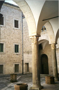 Courtyard in the Abbey of Monte Cassino