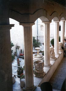 Fountain between the cloisters