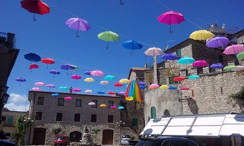 Umbrellas over Falvaterra