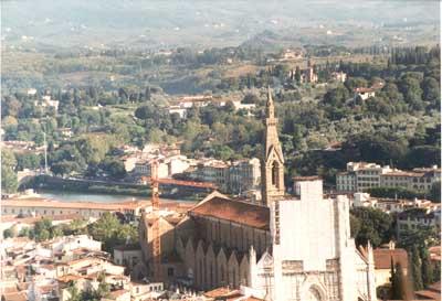 Santa Croce & Arno River in Florence