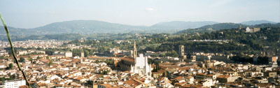 Panoramic view of Santa Croce in Florence