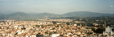 Looking down on Florence