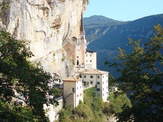 Exterior View of La Madonna della Corona Italy.