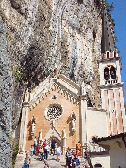 Main Entrance - Madonna della Corona Italy.