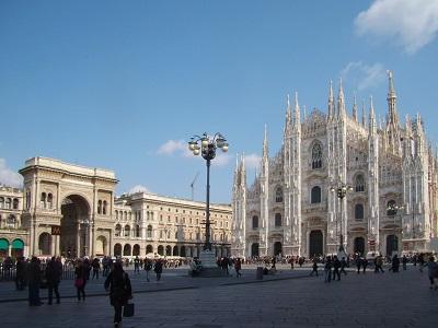 The Piazza del Duomo in Milan