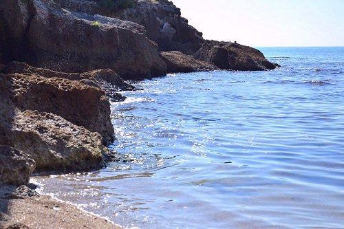 Sea Crashing Against the Rocks - Minturno Italy.