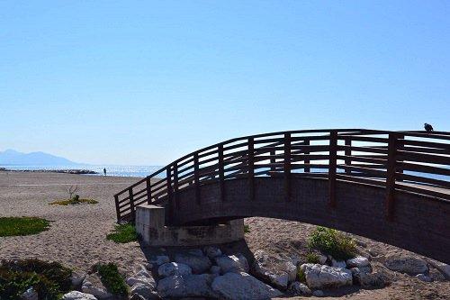 Bridge to Beach - Minturno Italy.