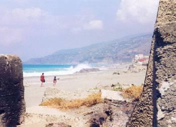 The beach at Amantea