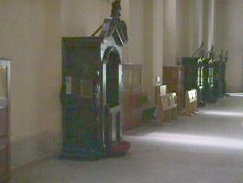 Confessionals Inside the Monastery of Montevergine