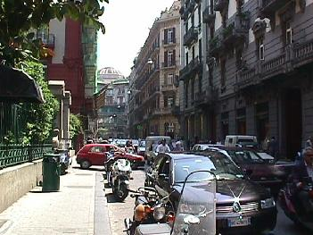 A Congested Street in Naples