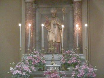 The statue of Saint Paulino, Cathedral of San Paulino in Nola