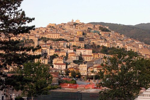 From the Certosa di San Lorenzo you get an incredible view of all the houses that line the hillside of Padula