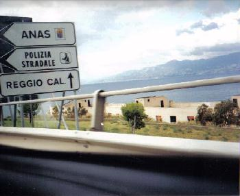 Sign to Reggio Calabria
