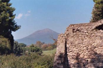 A View of Mount Vesuvius from the City of Pompei