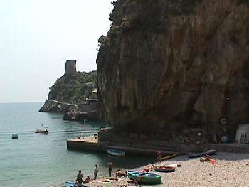 Beach, Cliffs & Sea at Praiano