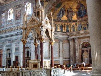 The Ciborio in the Basilica di San Paolo fuori le mura