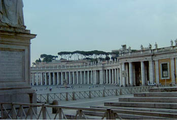 Bernini's colonnade in St. Peter's square
