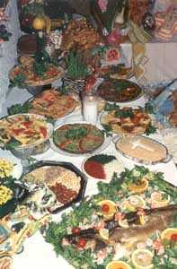Variety of Foods Served on St. Joseph's Day