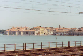 Venice From the Train