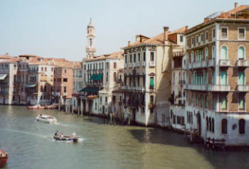 Grand Canal from the other side of the Rialto Bridge